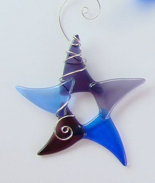 Sun Catcher - Simple Star - Large - Blue/Purple
