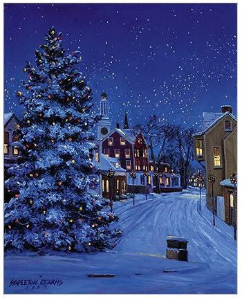 Gift Enclosure Card - Village Christmas Tree - 81