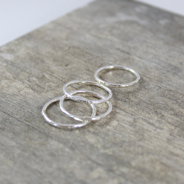 Danielle Stacking Rings - Hammered