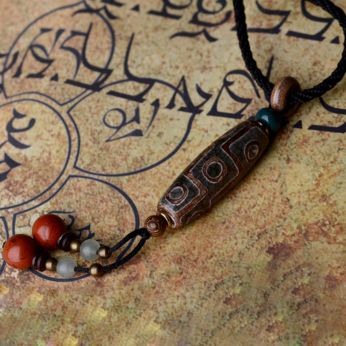 Necklace Handmade Dzi Beads Pendant - JustLiveHappyLife