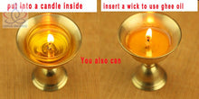 Copper Candle holder Ghee Lamp Holder 2pcs/Set Tibetan Butter Lamp Buddhist Supplies - JustLiveHappyLife