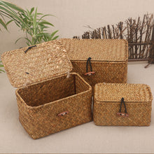 Handmade Rattan Storage Box With Lid - JustLiveHappyLife