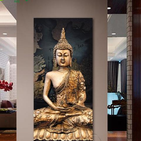 Buddha Canvas Oil Painting - JustLiveHappyLife