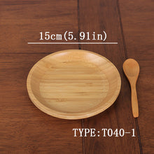 Natural Bamboo Fruit Plates Dried Wood Trays - JustLiveHappyLife