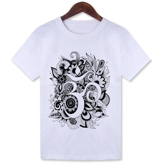 Women T-Shirt Om - JustLiveHappyLife