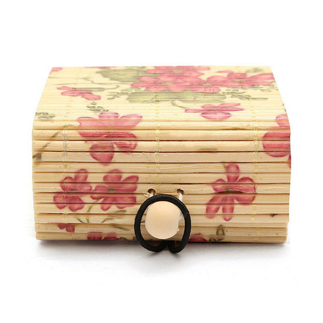 Ring/Necklace/Earrings Bamboo Wooden Jewelry Organizer - Storage Box - JustLiveHappyLife