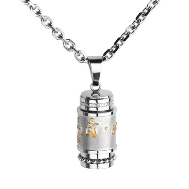 High Quality Stainless Steel Buddhist Om Mani Padme Hum Prayer Wheel Mantra Bottle - JustLiveHappyLife