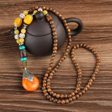 Beads Necklace Natural Stone Pendant - JustLiveHappyLife