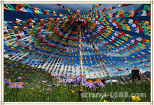 Tibetan Buddhist Prayer Flags, 10 Flags ,Tibet - JustLiveHappyLife