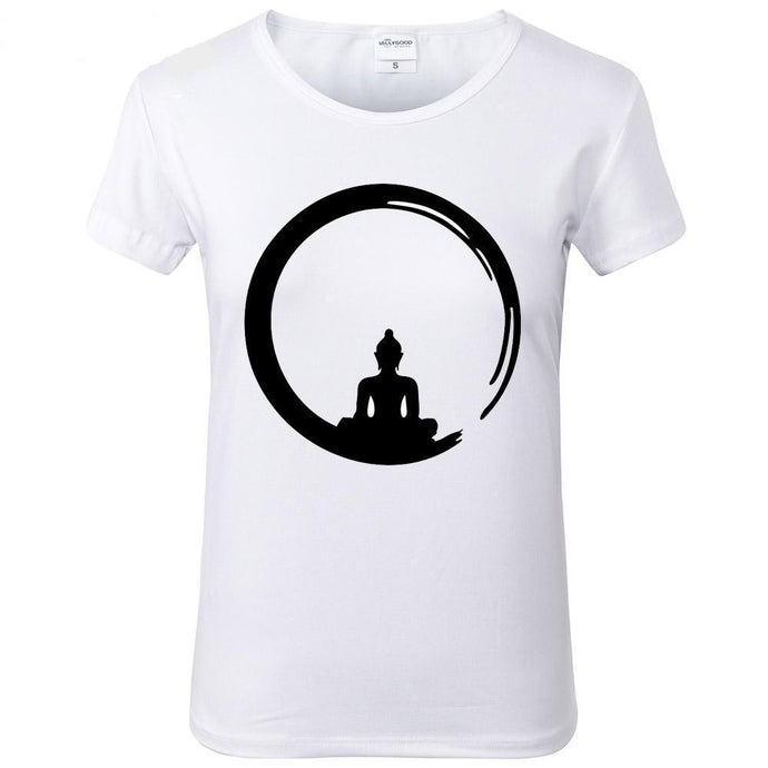 Buddha T-Shirts For Women - JustLiveHappyLife