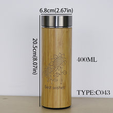 400ml Bamboo Thermos Stainless Steel Keeps Warm Up To 12 Hours! - JustLiveHappyLife