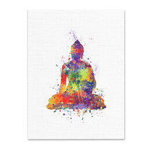 Watercolor Buddha And Lotus Painting - JustLiveHappyLife