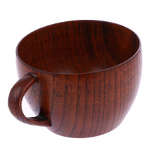 210ml Coffee Cup Natural Jujube Wood Cup with Handgrip - JustLiveHappyLife