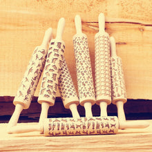 Wooden Rolling Pin  Embossing for Baking and Cookies - JustLiveHappyLife