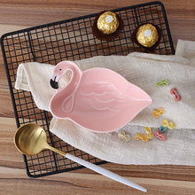 Flamingo Pink Bird 3D Creative Ceramic Plate For Snacks - JustLiveHappyLife