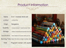3/6/9/12Boxes Tibetan Incense Stick With Plate, Indian Incense Premium Multiple Flavor Mixed Package - JustLiveHappyLife
