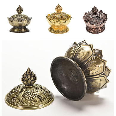 Tibetan Lotus Incense Burner - JustLiveHappyLife