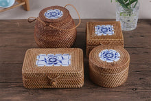 Rattan Storage Box With Lid Square And Round Hand-Woven - JustLiveHappyLife