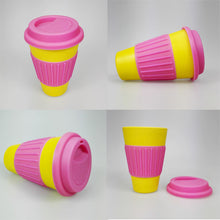 Colorful Coffee And Tea Bamboo Mug - Eco Friendly Made Of Bamboo Fiber - JustLiveHappyLife