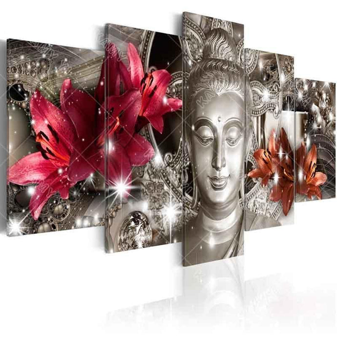 Flower and Stars Buddha Diamond Painting DIY