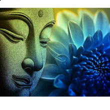 "DIY Diamond Painting ""Buddha and the blue Lotus"""
