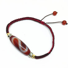 "High Quality Handmade Agate Bracelet ""Money Hook"" Tibetan Dzi Bead"