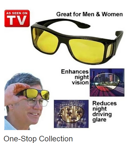 30d086273d HD Night Vision Wrap Around Glasses As Seen on TV HD Vision Day ...