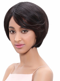 Brazilian Virgin Hair Straight Short Bob Human Hair Wigs Non Lace Wig 360 Full With Baby Hair 150% Density