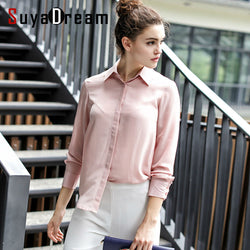100% REAL SILK Women long sleeve CHIFFON SILK Blouse