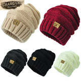 Unisex Winter Knitted Wool Cap Women or Men Casual Beanies Hat Solid Colors Hip-Hop  Beanie Hat
