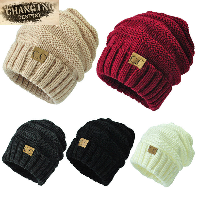 f83333fbf7aeb Unisex Winter Knitted Wool Cap Women or Men Casual Beanies Hat Solid C –  Casiaba