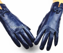Special Offer Winter Gloves Female Leather Gloves Multicolored Sheepskin Super Soft Velvet Lined Warmer Handguard Sheaths