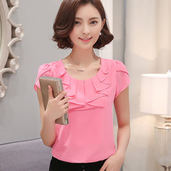 Women Shirt, Elegant Ladies Chiffon Blouse