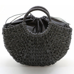 Stylish Women's Summer Straw Woven Handbag Or Beach Bag Hand Made