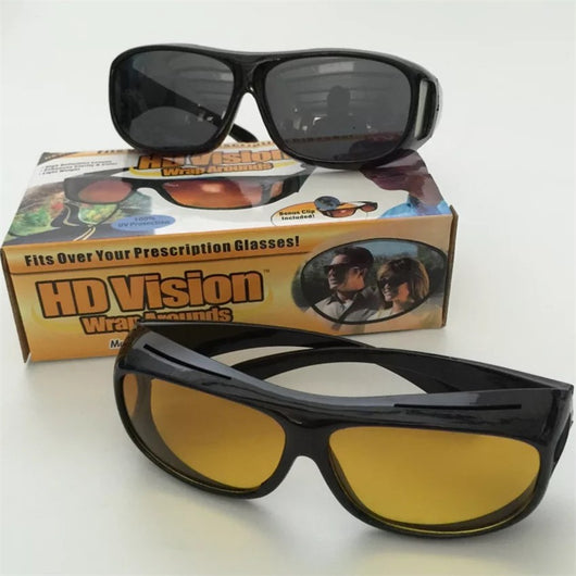 4856b0fb81 ... HD Night Vision Wrap Around Glasses As Seen on TV HD Vision Day  Sunglasses And Night ...