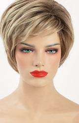 Haute Hair Mix Brown And Blonde Synthetic Hair Wigs Natural Wave Short Wig