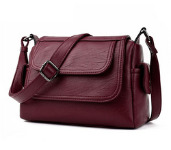 Fashion Leather Crossbody Messenger Bags For Women  Shoulder Handbags