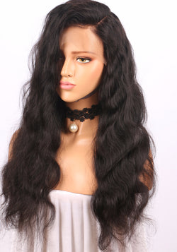 Haute Hair 360 Lace Frontal Wigs Pre Plucked With Baby Hair Body Wave Brazilian Human Hair Wigs by Eva