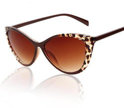 ADE Cat Eye Sexy Leopard Frame Sunglasses Women Famous Brand Designer UV 400