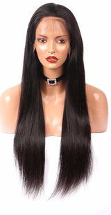 Haute Hair  360 Lace Frontal Human Hair Wigs For Women Straight Brazilian Remy Hair Natural Color Pre Plucked