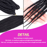 "Hair Braids 24"" 7 Packs of Box Braid crochet extensions Synthetic Braiding Hair Extensions"