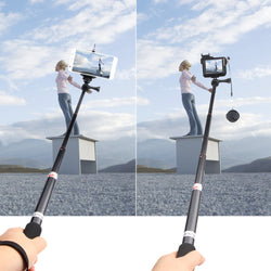 Selfie Pole Extendable Telescopic Selfie Stick Handheld Selfie Monopod for Action Camera Smartphone