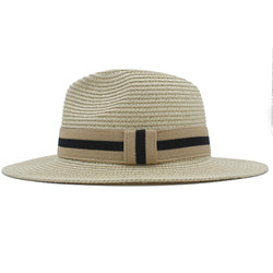 Fashion Men Women Summer Toquilla Straw Sun Hat For Elegant Lady Wide Brim Fedora Sunbonnet Beach Sunhat Panama Cap Dad Hat