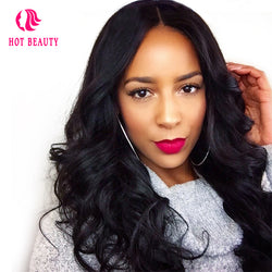 Haute Hair Brazilian Loose Wave 360  Lace Wig Pre Plucked Full 100%  Human Hair Wigs With Baby Hair