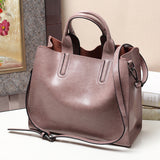 Luxury 100% Real Leather Women Designer Handbags Brand Cowhide Genuine Leather Women Shoulder Messenger Bags Elegant Briefcase