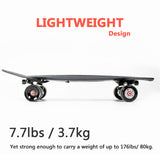 Max  Electric Skateboard One Motor 500w Carbon Fiber Four Wheels 70mm Kids or Adults usa