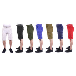 Hot Summer Cool Men's Cargo Shorts  with Matchup Belt and Drawstrings