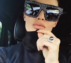 Beautiful New Casia Del Select Fashion And Luxury Rhinestones Diamond  Shades Sunglasses for Men Women Brand Design