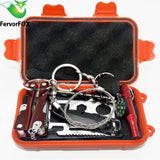 Survival Outdoor Emergency Equipment SOS Kit First Aid Survival Field Self-help Box For Camping Travel