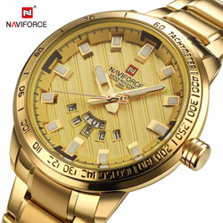 Naviforce Watch Men Watch Luxury Gold Stainless Steel Army Military Quartz Wristwatches Clock Male Sports watch
